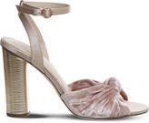 Office Natural knotted velvet sandals