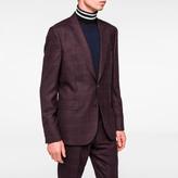 Paul Smith Men's Slim-Fit Damson Check Wool Blazer