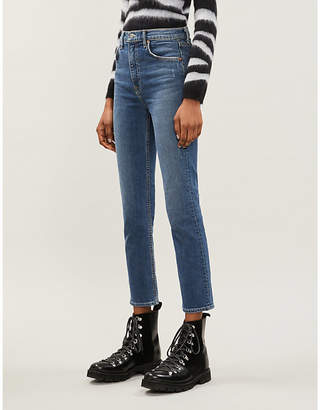 GRLFRND Reed straight slim-fit high-rise jeans