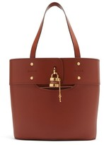 Chloé Aby Small Leather Tote Bag - Womens - Dark Brown