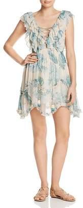 Rococo Sand Lace-Up Mini Dress