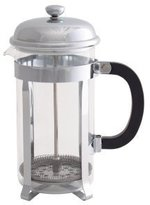 Kitchen Craft Le'Xpress 6-Cup Glass / Stainless Steel Cafetià̈re, 850 ml - Chrome Plated by