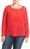 Tart Plus Size Women's 'Krista' Mirror Print Silk Top