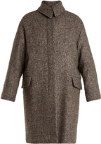 Vanessa Bruno Point-collar herringbone-tweed wool-blend coat