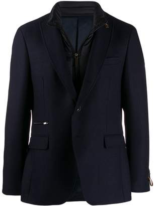 Paoloni blazer with brooch detail