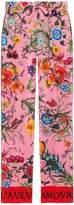 Gucci Silk flora snake print pants