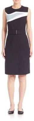HUGO BOSS Blurred Focus Sheath Dress