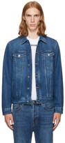 Givenchy Blue Denim Back Logo Jacket
