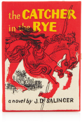 Olympia Le-Tan The Catcher In The Rye Appliqued Canvas Book Clutch