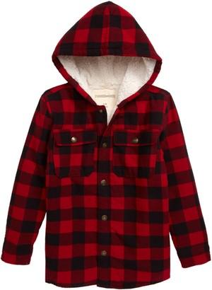 Tucker + Tate Cozy Faux Fur Lined Shirt Jacket