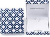 clear Crystal Sophistication Blue & Crystal Reversible Heart Pendant & Earrings