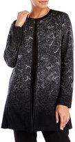 Eileen Fisher Felted Wool Sprinkle Round Neck Jacket
