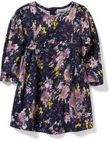 Old Navy Patterned Fit & Flare Dress for Baby