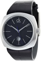 Calvin Klein Conversion K9711102 45mm Stainless Steel Case Black Calfskin Mineral Men's Watch