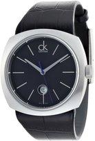 Calvin Klein Conversion K9711102 45mm Stainless Steel Case Black Calfskin Mineral Men's Watch
