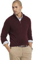 Van Heusen Big & Tall Classic-Fit Fine Gauge Heathered Quarter-Zip Sweater