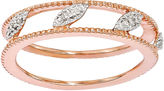 JCPenney FINE JEWELRY Personally Stackable Diamond-Accent 18K Rose Gold Over Sterling Silver Ring