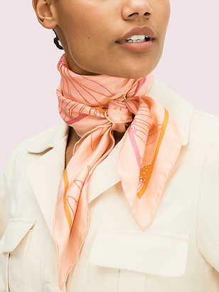 Kate Spade Falling Flower Square Scarf