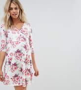 Asos Maternity - Nursing Asos Maternity Nursing Wrap Dress In Light Vintage Floral Print