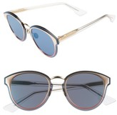 Christian Dior Women's Nightfas 65Mm Retro Sunglasses - Gold/ Blue