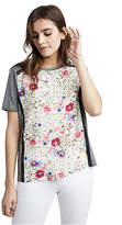 True Religion Womens Floral Panel Tee