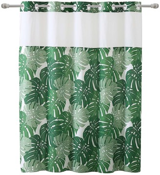 Hookless Palm Leaf Shower Curtain