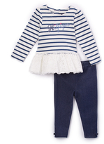 Tommy Hilfiger Navy Stripe Ruffle Tunic & Leggings - Infant