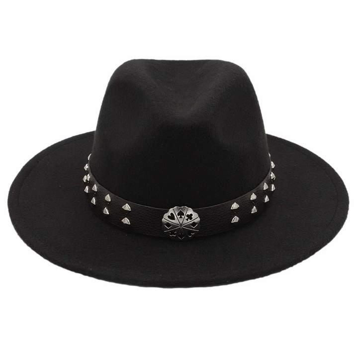 06162403 Mens Black Wide Brim Fedora - ShopStyle Canada