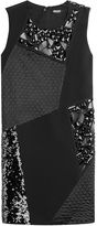 DKNY Patchwork Dress with Sequins and Bead Embellishment