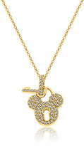 Disney Mickey Mouse Golden Lock Necklace Designer Jewelry Collection