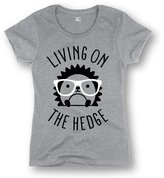 USA Screen Print Direct Living On The Hedge Funny Womens T-Shirt - Gray