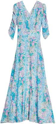 By Ti Mo Floral Jacquard Maxi Dress