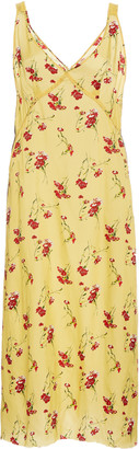 R 13 Side Stripe Floral Print Slip Dress