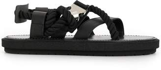 Sacai flat rope sandals