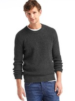 Gap Merino wool blend ribbed crew sweater