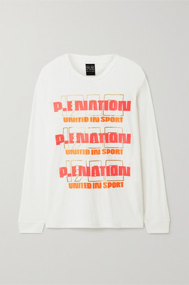 P.E Nation Rebuild Oversized Linen-blend Top - White