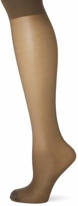 Pretty Polly Women's Medium Support Knee Highs 2PP Socks 15 DEN