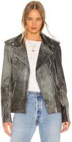 Understated Leather Oversized Easy Rider Jacket