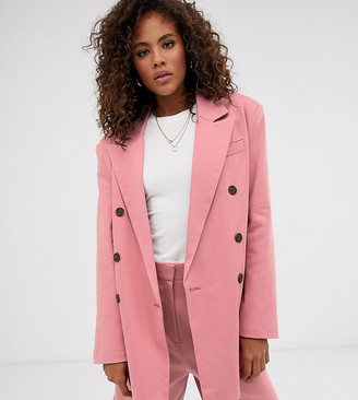 Asos DESIGN Tall oversized double breasted dad suit blazer