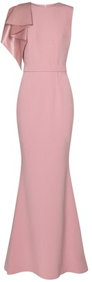 Safiyaa Wool-blend crepe gown