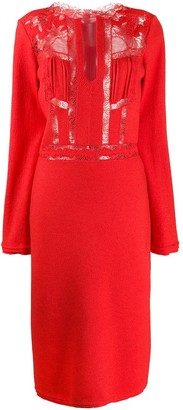 Ermanno Scervino Lace Panel Dress