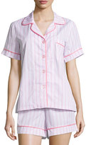 BedHead Striped Shorty Pajama Set, Pink