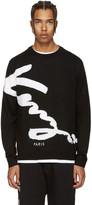 Kenzo Black Signature Logo Sweater