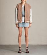 AllSaints Rib Denim Skirt