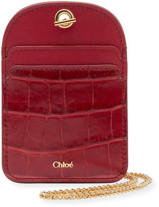 Chloé Walden Card Case on Chain