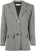 Saint Laurent Pre Owned 1980's gingham blazer