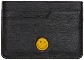 Anya Hindmarch Black Wink Smiley Card Holder