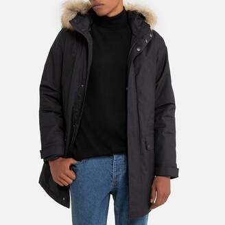 La Redoute Collections Long Hooded Parka with Faux Fur Trim