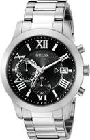 GUESS GUESS? Men's U0668G3 Sporty Watch with Black Chronograph Dial and Date Function
