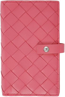 Bottega Veneta Pink Intrecciato Medium French Wallet